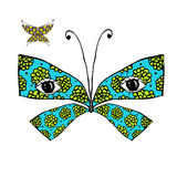 Colorful butterfly with eyes for your design Stock Photos