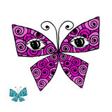 Colorful butterfly with eyes for your design Stock Photo