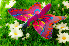 Colorful butterfly on flowers Stock Photos