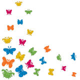 Colorful butterfly. Fly background Stock Photos