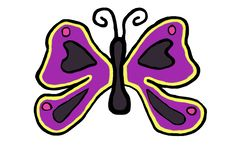 Colorful butterfly icon in spring stock images