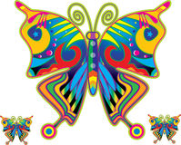 Colorful butterfly. Illustration with colorful beautiful butterfly Stock Photo