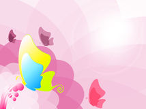 Colorful butterfly. Illustration of Colorful butterfly on pink background Stock Images