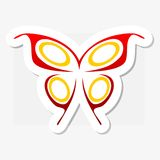 Colorful butterfly logo Royalty Free Stock Photos