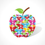 Colorful butterfly make a apple Royalty Free Stock Photo