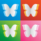 Colorful Butterfly paper set Royalty Free Stock Photography