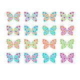 Colorful butterfly pattern design Royalty Free Stock Photo