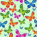 Colorful butterfly pattern Stock Images
