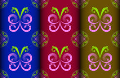 Colorful butterfly Pattern Stock Photo