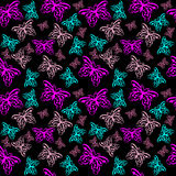 Colorful butterfly seamless pattern Stock Photo