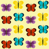 Colorful butterfly seamless pattern Royalty Free Stock Photography