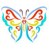 Colorful butterfly with spread wings vector illustration