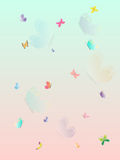 Colorful Butterfly summer splash beautiful wallpaper. Layered vector illustration. Royalty Free Stock Photography
