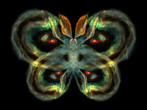 Colorful Butterfly. Unreal Butterfly series. Abstract butterfly element on the subject of imagination, nature and design Stock Image