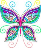 Colorful Butterfly Vector. An Illustration of a Colorful Butterfly in Vector Format Stock Photo