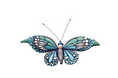 Colorful butterfly on white. Stock Photos