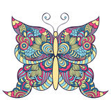 Colorful butterfly on white background Royalty Free Stock Photography