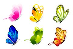 Colorful Butterlies Royalty Free Stock Photos