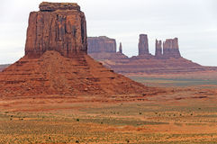 Colorful Buttes in the Desert Stock Images
