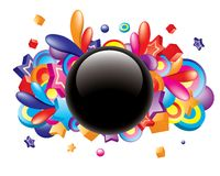 Colorful_button Stock Photography