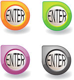 Colorful button Royalty Free Stock Photography