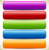 Colorful Button / Banner Backgrounds with Glossy Effect and Empt Stock Photography