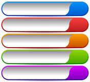 5 colorful button, banner backgrounds - Set of rectangular butto Royalty Free Stock Photo