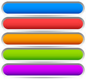 5 colorful button, banner backgrounds - Set of rectangular butto Royalty Free Stock Photography