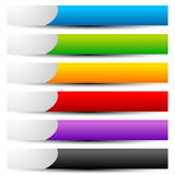 Colorful button, banner shapes with space for symbol and text Royalty Free Stock Photos