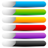 Colorful button, banner shapes with space for symbol and text Royalty Free Stock Image