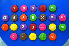 Colorful button. The calculator button many colors Stock Images