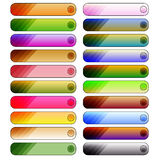 Colorful button collection Royalty Free Stock Images