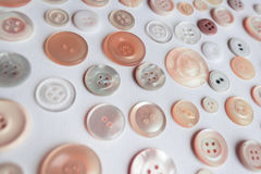 Colorful button collection on white background Royalty Free Stock Photos