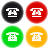 Colorful button with phone Royalty Free Stock Photos