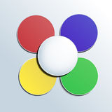 Colorful button on white background for any infographic Royalty Free Stock Photos