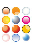 Colorful buttons. Color glassy buttons using to your web icons Royalty Free Stock Photo