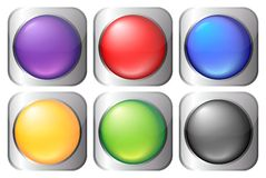 Colorful buttons. On the white background Stock Photos
