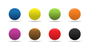 Colorful buttons. Colorful soft looking web buttons stock illustration