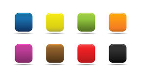 Colorful buttons. Colorful soft looking web buttons vector illustration
