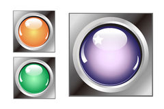 Colorful buttons for all website Stock Image