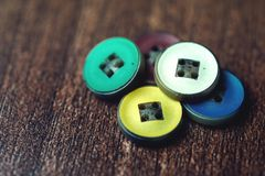Colorful buttons as a rainbow background Royalty Free Stock Photos