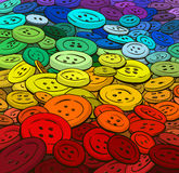 Colorful buttons background. Cartoon style. Stock Photo