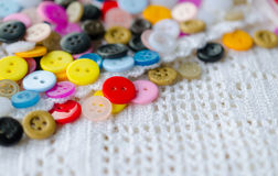 Colorful buttons background Stock Photo