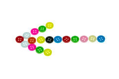 Colorful buttons, Colorful Clasper. Arrow Colorful  buttons isolated on white Stock Photo