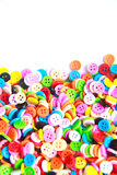 Colorful buttons,  Colorful  Clasper on white background Royalty Free Stock Images