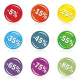 Colorful buttons discount offer shiny button set Stock Image