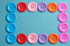 Colorful buttons forming a border Stock Photography