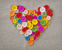 Colorful buttons heart Stock Photo