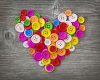 Colorful buttons heart royalty free stock photos