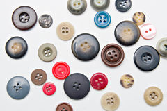 Colorful buttons isolated on white. Background Royalty Free Stock Image